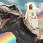 Jesus on a Dinosaur